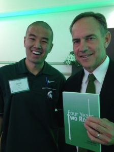 Four Years, Two Roads has MSU Head Football Coach Mark Dantonio feelin' some type of way.